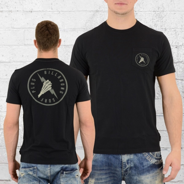 Billabong Herren Pocket T-Shirt Fistbolt schwarz