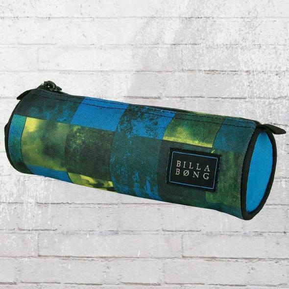 Billabong Schlamperbeutel Barrel Pencil Case Federmappe blau grün gelb