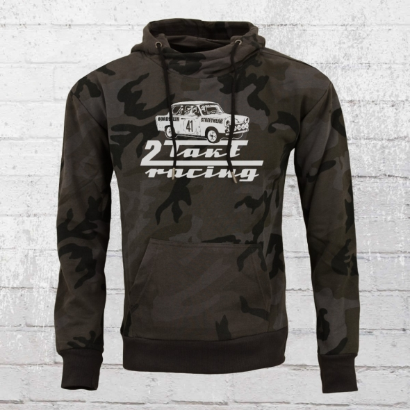 Bordstein Camouflage Hoody 2-Takt Racing Trabi 601 schwarz