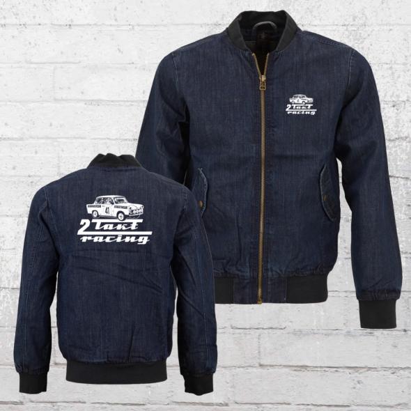 Bordstein Jeans Bomber Jacke 2-Takt Racing Trabi 601 blau