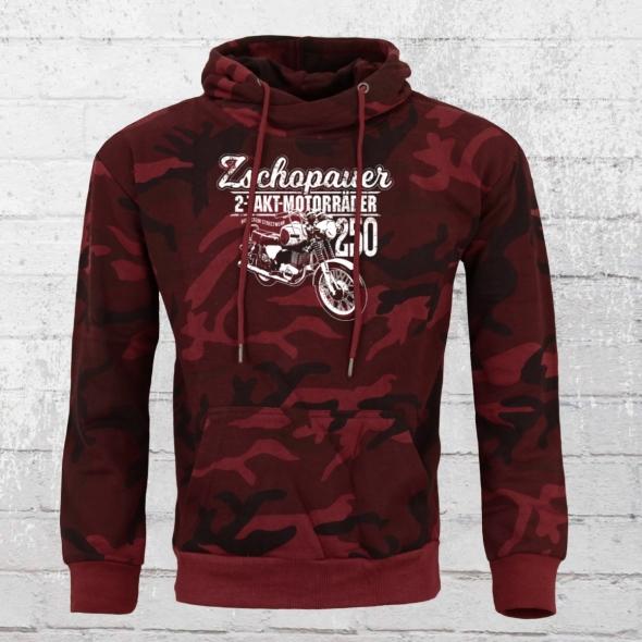 Bordstein Kapuzensweater TS 250 Zschopauer Motorräder rot camo_duplikat
