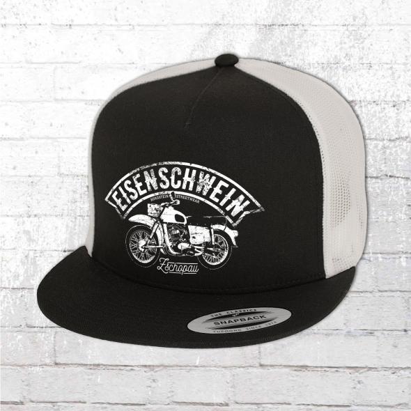 Bordstein Mütze Eisenschwein Trucker Cap schwarz weiss