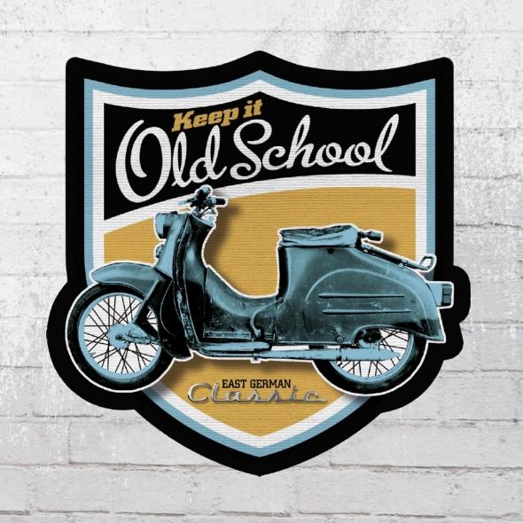 Bordstein Streetwear 10x Aufkleber KR 50 Old School Wappen