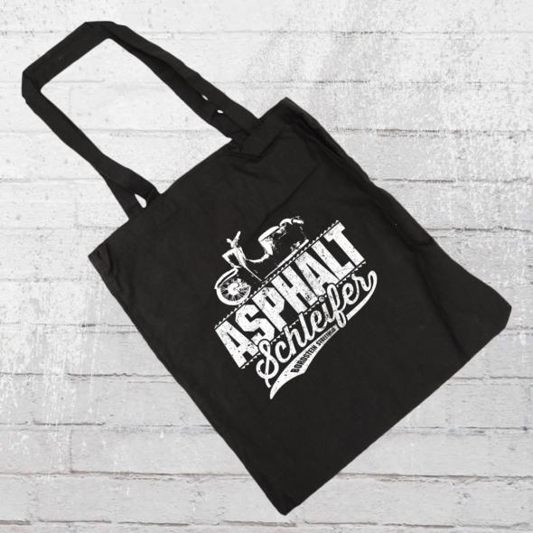 Bordstein Streetwear Stoffbeutel Asphaltschleifer schwarz