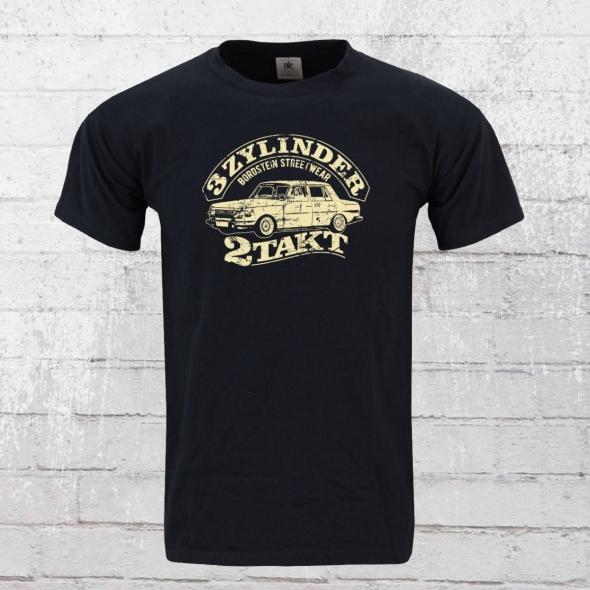 Bordstein T-Shirt Herren 3 Zylinder 2-Takt blau