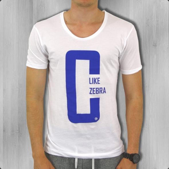 C like Zebra T-Shirt Herren C Like white