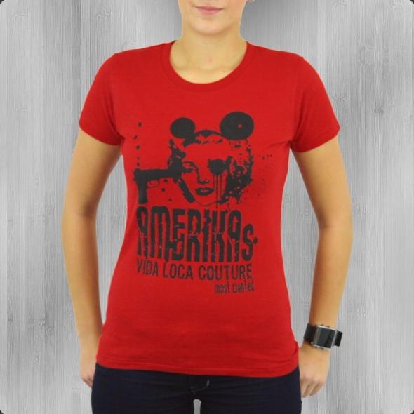 La Vida Loca T-Shirt Damen Most C 1222 red