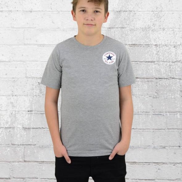 Converse Kinder Left Chest T-Shirt grau meliert