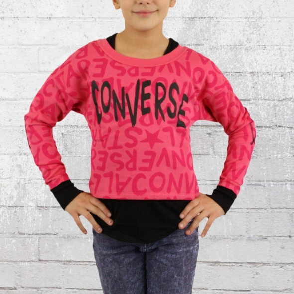 Converse Kinder Sweater All Over Girls cosmos pink