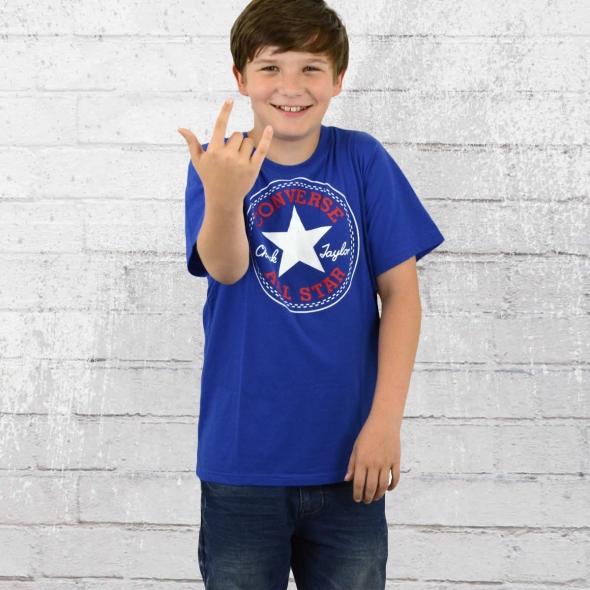 Converse Kinder T-Shirt Chuck Patch blau