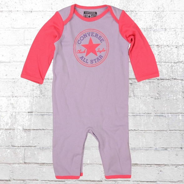 Converse Strampler Baby Body Suit lila pink