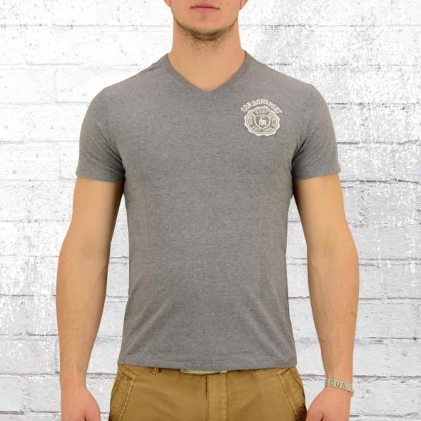 Cordon Berlin V-Ausschnitt T-Shirt Jens grau melange