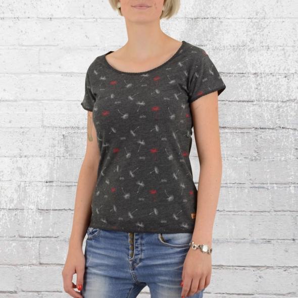 Derbe Damen T-Shirt Pusteblume grau melange