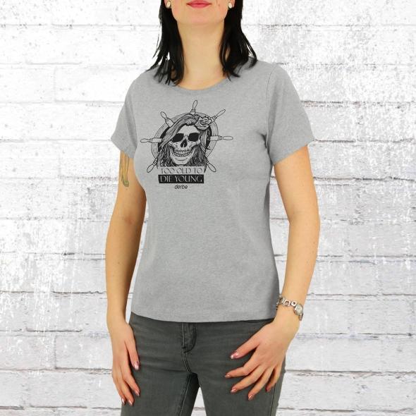 Derbe Frauen Shirt Totdy grau