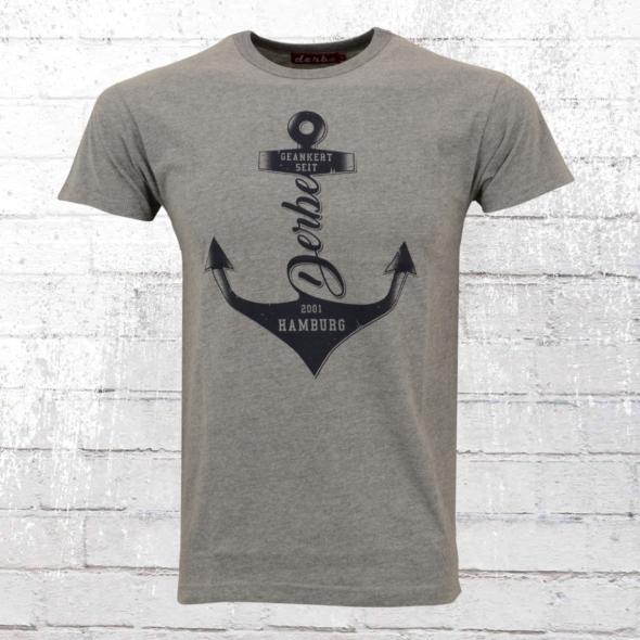 Derbe Hamburg Herren T-Shirt Geankert grau