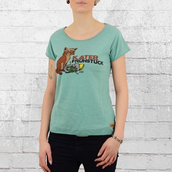 Derbe Hamburg T-Shirt Girls Katerfrühstück türkis