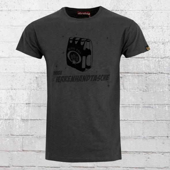Derbe Männer T-Shirt Herrenhandtasche anthrazit