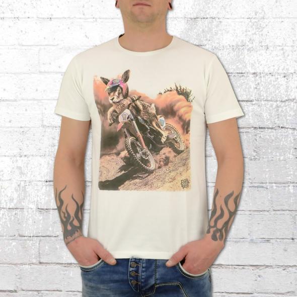Dirty Velvet Herren Shirt Cross Hare weiss
