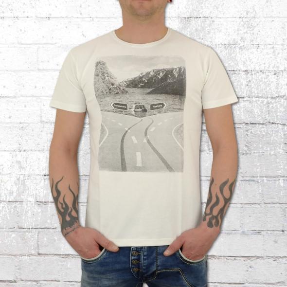Dirty Velvet Herren T-Shirt Destination Unknown weiss