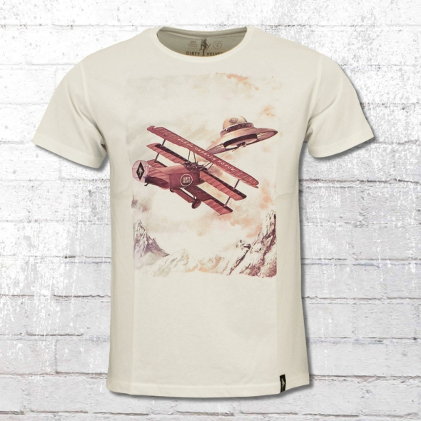 Dirty Velvet Herren T-Shirt Dogfight weiss