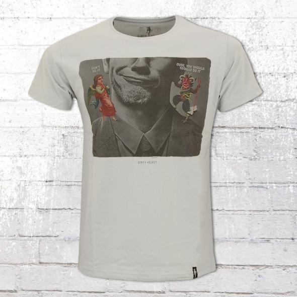 Dirty Velvet Herren T-Shirt Just Do grau