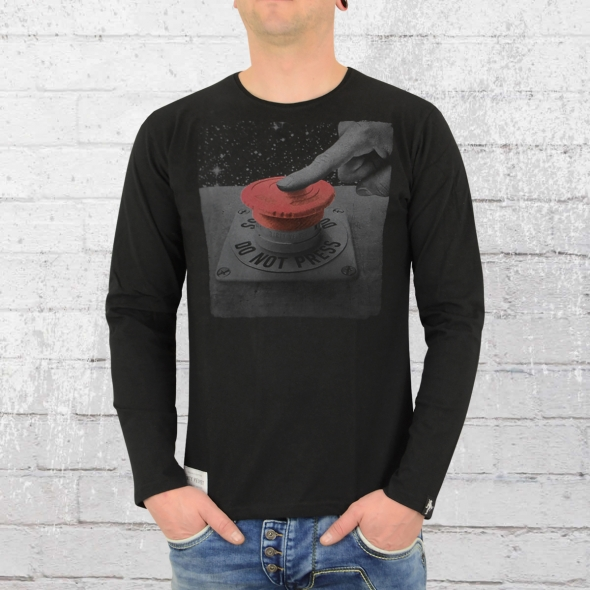 Dirty Velvet Langarm T-Shirt Do Not Press schwarz