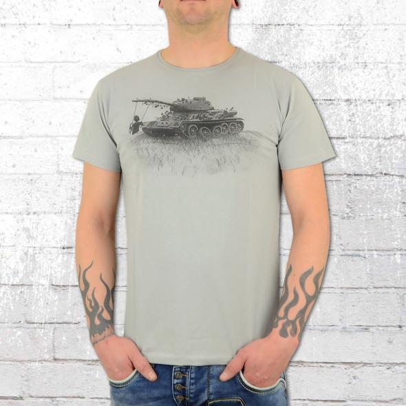 Dirty Velvet T-Shirt Männer War Games grau