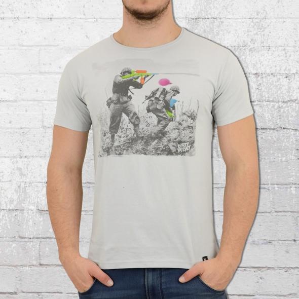 Dirty Velvet T-Shirt Water Fight hellgrau