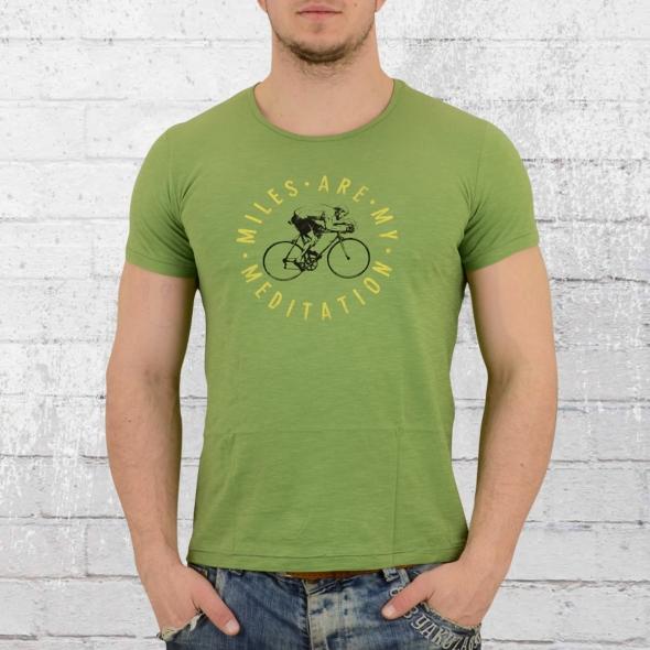 Greenbomb Fahrrad T-Shirt Bike Meditation hell grün