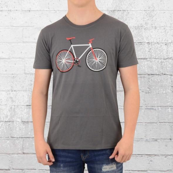 Greenbomb Herren Fahrrad T-Shirt Bike Easy grau