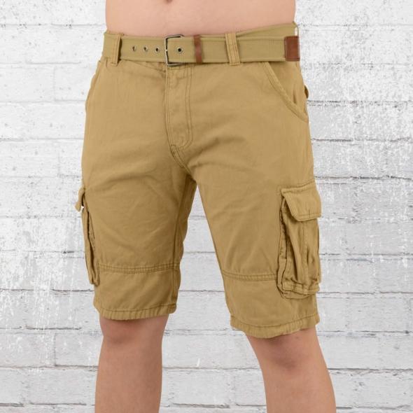 Indicode Männer Cargo Short Monroe beige