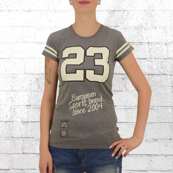 Label 23 College T-Shirt Frauen grau meliert