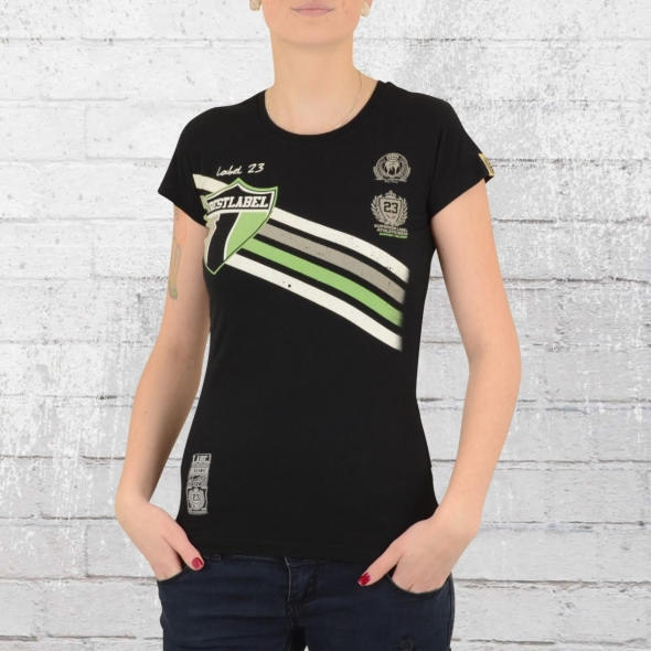 Label 23 Frauen T-Shirt Best Label schwarz