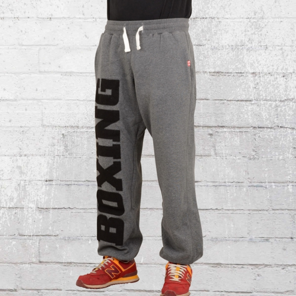 Label 23 Herren Jogginghose Boxing grau melange