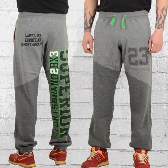 jetzt bestellen label 23 herren jogginghose sportsstyle grau. Black Bedroom Furniture Sets. Home Design Ideas