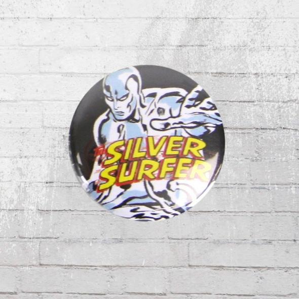 Logoshirt Button Comic Anstecker Silver Surfer Marvel