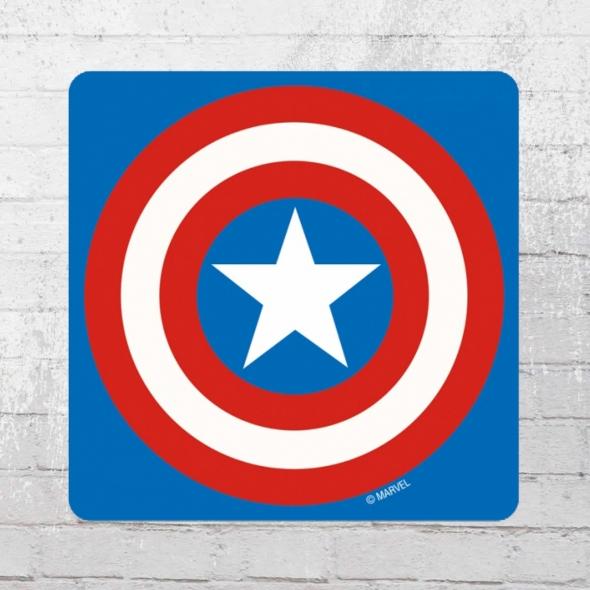 Logoshirt Comic Untersetzer Marvel Captain America Shield Coaster
