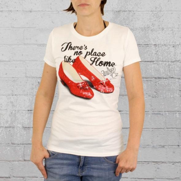 Logoshirt Frauen T-Shirt Zauberer von Oz There Is No Place weiss