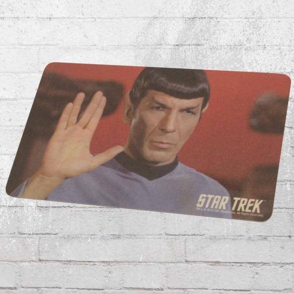 Logoshirt Set Star Trek Frühstücksbrettchen Spock Live Long bunt