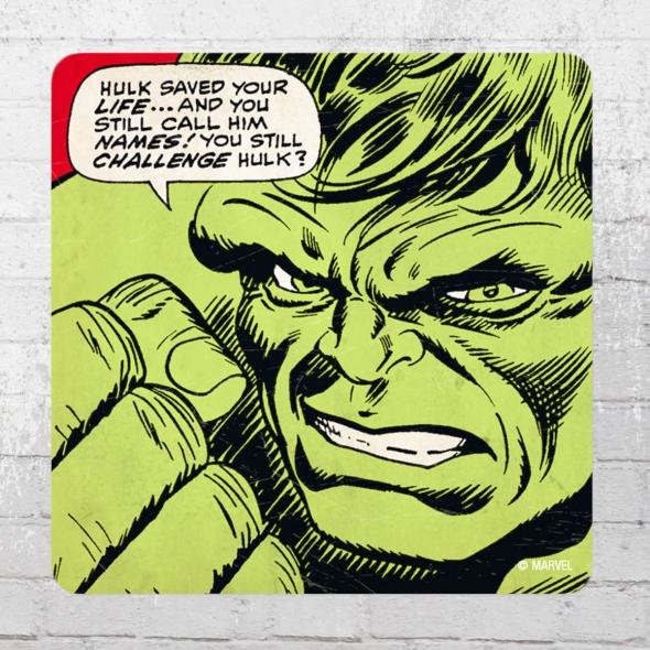 Logoshirt Untersetzer 6er Pack Marvel Hulk Saved Your Life Coaster multicolour