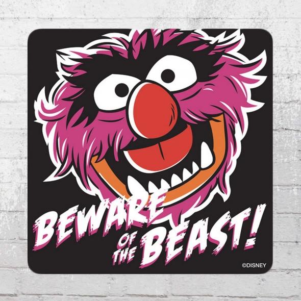 Logoshirt Untersetzer Muppets Beware Of The Beast Coaster Muppet Show black