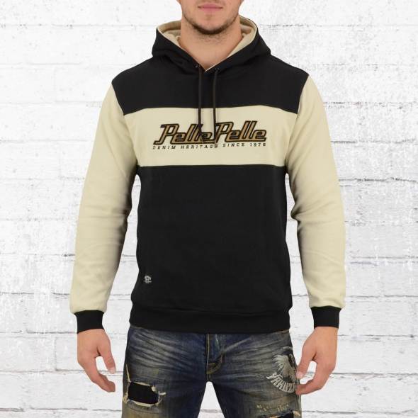 Pelle Pelle Männer Kapuzensweater Heritage Color Hoody schwarz