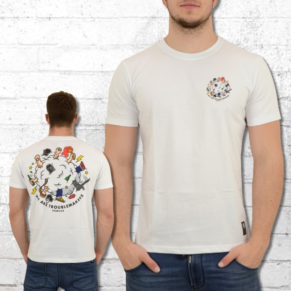 PG Wear Herren T-Shirt We Are Troublemakers weiss