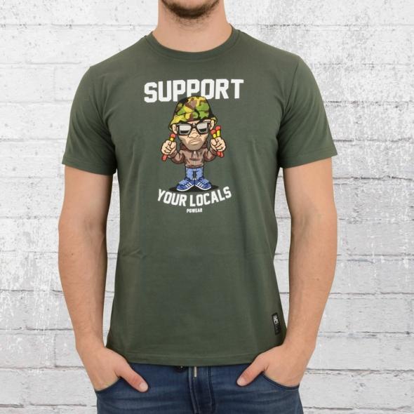 PG Wear Support Your Locals T-Shirt grün