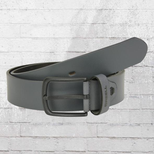 Reell Gürtel All Black Buckle Belt Ledergürtel grau