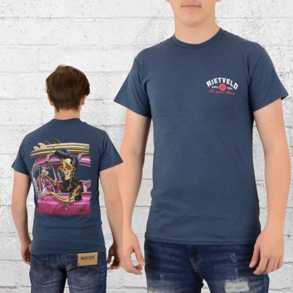 Rietveld Männer T-Shirt Skelvis blau