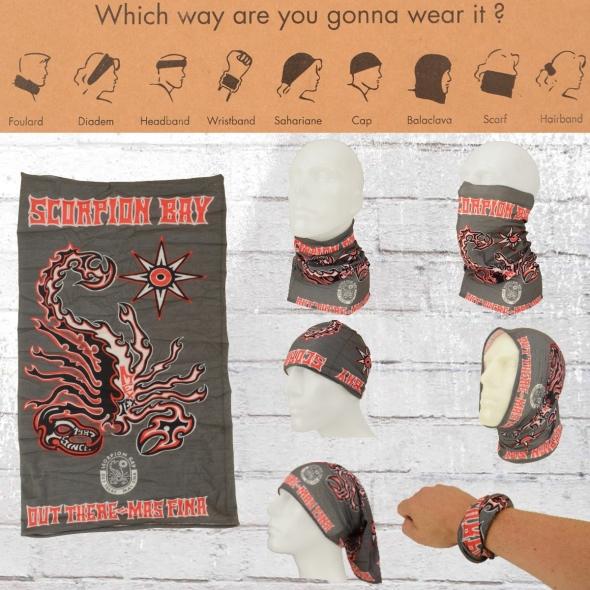 Scorpion Bay Schlauch-Schal Neck Warmer grau