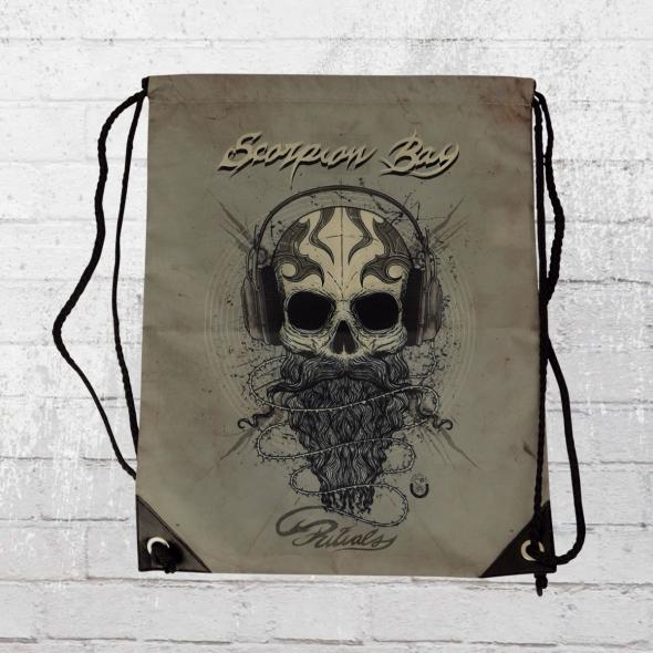 Scorpion Bay Turnbeutel Skull Beard vintage grau