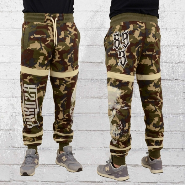 Yakuza Männer Jogginghose Skull Jogger camouflage