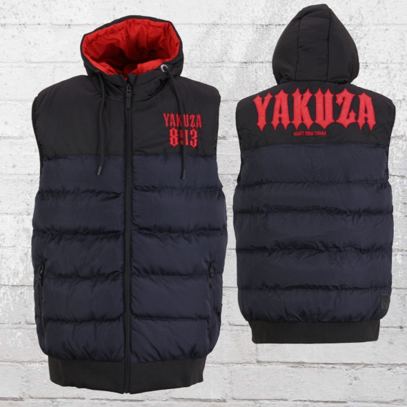 Yakuza Männer Weste Fuck Society blau schwarz